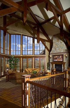 Luxury House Plan Great Room Photo 01 for Home Plan also known as the Colima Manor Mountain Home from House Plans and More. Rustic House Plans, Craftsman Style House Plans, Luxury House Plans, Mountain House Plans, Contemporary House Plans, Rustic Contemporary, House Plans And More, Lodge Style, Log Homes