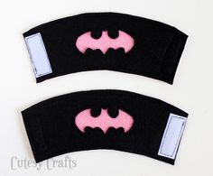 Felt Batgirl or Batman Superhero Cuffs