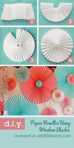 My Wedding Lab - Blog de Bodas, Moda y Cosas Bonitas: DIY: Rosetas de Papel Para Decorar Vuestra Boda o Casa