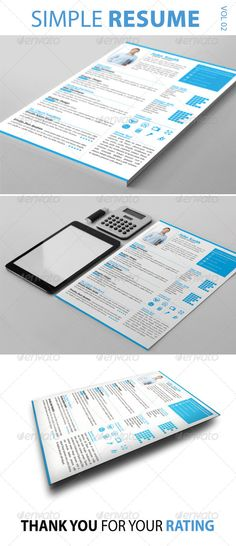 4 Pages Job Resume / CV Pinterest Job resume, Resume cv and Template