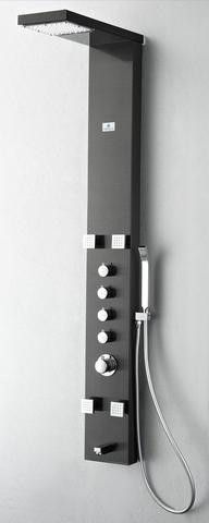 Fresca Verona Stainless Steel (Brushed Gray) Thermostatic Shower Massage Panel
