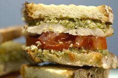 Grilled Chicken and Broccoli Pesto Panini - Giadzy Pesto Panini Recipe, Chicken Pesto Panini, Pesto Sandwich, Panini Recipes, Soup And Sandwich, Grilled Chicken, Snack Recipes, Sandwich Bar, Yummy Recipes