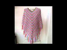 poncho tejido a crochet para bebe o niña paso a paso - YouTube
