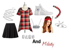 """""""Bars And Melody"""" by geekygal2003 ❤ liked on Polyvore featuring Edge Only, Converse, Eddie Borgo, Urban Renewal and Studio Silver"""