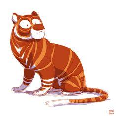 Tiger Sketch by sketchinthoughts.deviantart.com on @deviantART