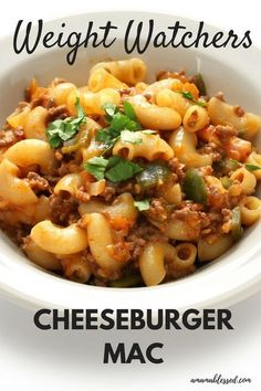 Weight Watchers slow cooker cheeseburger casserole includes pasta and is perfect for dinner or lunch for only 5 points per serving. Made in the Crockpot, slow cooker or instant pot, this Weight Watchers Freestyle recipe can be made with chicken, ground turkey, beef or hamburger.