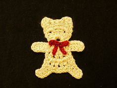 Ravelry: Teddy bear applique. Free pattern by Chinami Horiba.