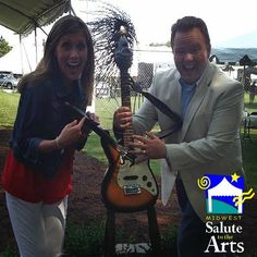 KMOV Great Day St. Louis's Claire Kellett and Matt Chambers having fun at Midwest Salute to the Arts Friday Morning! #MidwestSalute #KMOV #GreatDaySTL