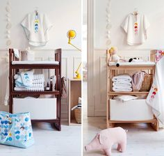 Height adjustable wooden changing table with large storage space – Stokke Care Changing Table – Also converts into a bookshelf & desk!