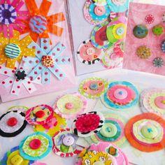 flower set little button center