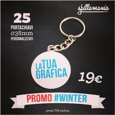 #spillamania #winter #promo #portachiavi #personalizzati #followme www.spillamania.it