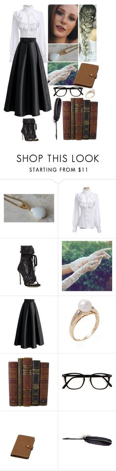 """""""00364."""" by annacastrolima ❤ liked on Polyvore featuring Dsquared2, Chicwish, Mulberry, Maison Margiela, blackandwhite, braids and victorian"""