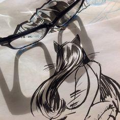Cat woman Brush Pen
