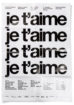 Creative Poster, Helvetica, Je, Vais, and Dancer image ideas & inspiration on Designspiration Anna And The French Kiss, Good Vibe, Adrien Agreste, Orphan Black, Design Graphique, Love You, My Love, Belle Photo, Typography Design