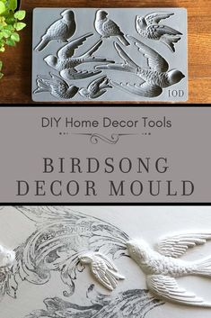 Adding vintage three-dimensional details to your painted furniture and home deco. - Decor Moulds™️ by Iron Orchid Designs - IOD Decor Moulds - Welcome Home Decor Baby Diy Projects, Easy Craft Projects, Diy Home Decor Projects, Diy Home Crafts, Easy Diy Crafts, Diy Crafts To Sell, Recycled Crafts, Craft Ideas, Decor Ideas