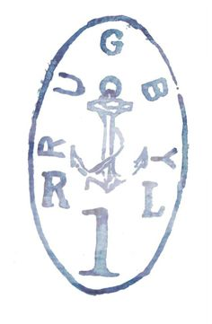 ROB HOWELL Hand Painted Anchor Stamp for RUGBY RALPH LAUREN
