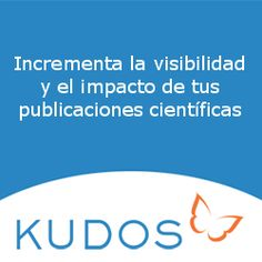 Kudos es un servicio web creado para ayudar a investigadores, instituciones y editores a aumentar la visibilidad y el impacto de sus publicaciones científicas.
