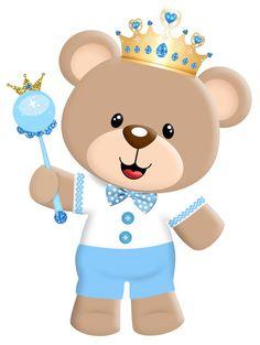 """Kit Aniversário """"Ursinho Príncipe Azul"""" para Imprimir ..."""