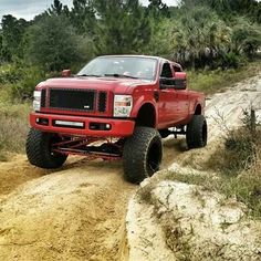 jacked up chevy trucks pictures Jacked Up Chevy, Ford Pickup Trucks, Big Rig Trucks, Lifted Ford Trucks, Cool Trucks, Chevy Trucks, Redneck Trucks, Redneck Humor, Ford 4x4