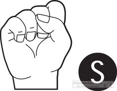 American Sign Language Asl Clip Art  Dolch Words Nouns Set