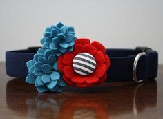 Flower Dog Collar  The Sassy Sailor by pecanpiepuppies on Etsy, $36.00