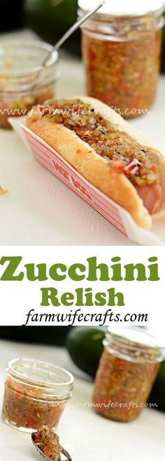 Looking for something to do with all that zucchini in your garden? This… Relish Recipes, Canning Recipes, Canning Tips, Tapas Recipes, Recipies, Cuisine Diverse, Pickle Relish, Pesto, Clean Eating