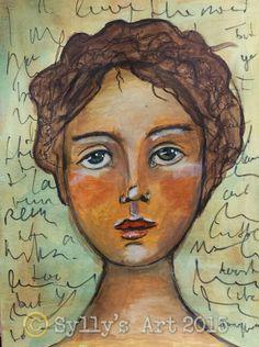 Sylly's Art Lifebook week 17: Expressive portrait Jenny Wentworth