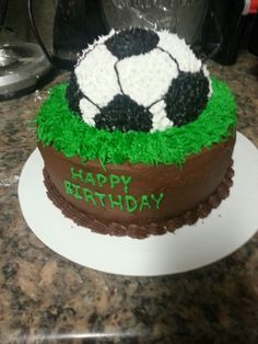 how to make a soccer ball birthday cake