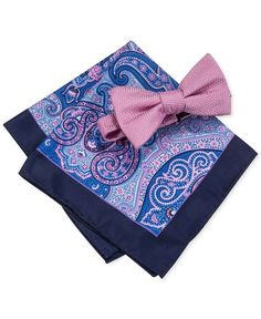 Countess Mara Men's Bradley Bow Tie & Paisley Pocket Square Set
