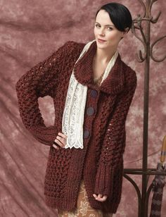 Yarnspirations.com - Patons Charming Cardigan - Patterns  | Yarnspirations