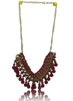 Red Chain And Rope Braided Necklace, Buy Rope Necklaces Online at Thia