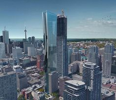 Looking south-west to 415 Yonge street, image via Kirkor Architects & Planners