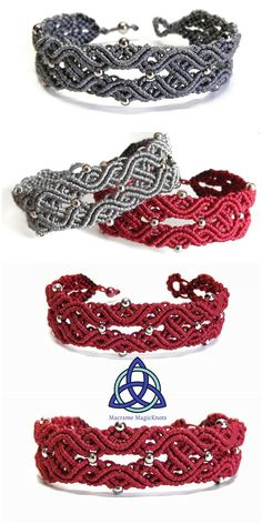 Most up-to-date Pictures Macrame bracelets celtic Thoughts In this Macrame tutorial video you will see how to make Macrame Bracelet Celtic Knot Design Macrame Bracelet Patterns, Macrame Bracelet Tutorial, Crochet Bracelet, Macrame Patterns, Macrame Necklace, Macrame Jewelry, Macrame Bracelets, Chainmaille Bracelet, Macrame Bag