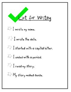 Writing Checklists are always fun to find!