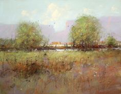Northern New Mexico Landscape Pastel 11in x 14in New Mexico Landscape Art Painting by Tom Perkinson