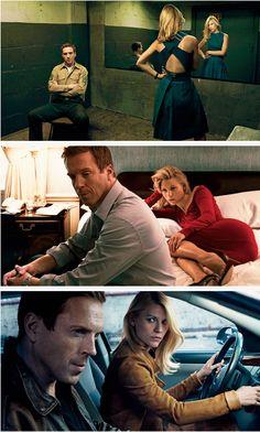 Homeland - Claire Danes & Damian Lewis | VOGUE August by Annie Leibovitz.