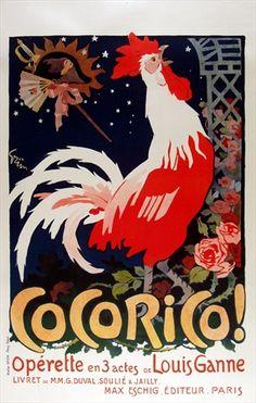 """Aun cuando con """"K"""", plagio es plagio, """"Kokoriko"""". Ilustración de la mano de Jules Alexandre-Grun."""