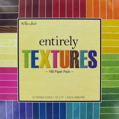 Get 12 x 12 Entirely Textures Paper Pack online or find other Printed Paper Packs products from HobbyLobby.com