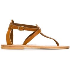 K. Jacques Buffon Sandals ($231) ❤ liked on Polyvore featuring shoes, sandals, leather sandals, camel shoes, k. jacques, k jacques sandals and leather footwear