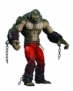 DC Direct Batman: Arkham City: Killer Croc Deluxe Action Figure Welcome to Arkham City, the new maximum security 'home' for all of Gotham City's thugs, Batman Arkham City, Gotham City, Batman Arkham Series, Batman Vs Superman, Dc Comics, Batman Comics, Arkham Asylum, Batman Comic Books, Comic Book Heroes