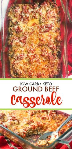 keto recipes with ground beef * keto recipes . keto recipes for beginners . keto recipes with ground beef . keto recipes for beginners meal plan Beef Casserole Recipes, Ground Beef Casserole, Hamburger Meat Recipes, Keto Casserole, Cabbage Casserole, Breakfast Casserole, Ground Beef Keto Recipes, Low Carb Casseroles, Ground Beef