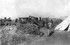 01/10/1921 EFE Data .- GUERRA DE AFRICA: OCUPACIÓN DE SEBT, octubre de 1921. Las baterías de 15 cm