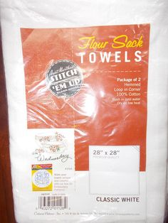 Flour Sack Towels package of 2 Hemmed Towels by Aunt Marthas