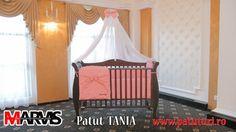 Patut bebe din lemn masiv Marvis Cribs, Toddler Bed, Furniture, Home Decor, Cots, Child Bed, Decoration Home, Bassinet, Room Decor
