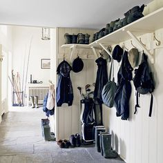Wood Panelling Boot Room