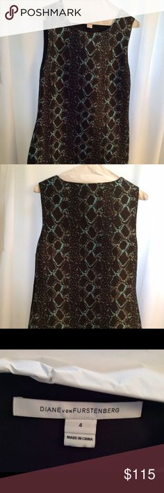 💥💥💥🔥🔥🔥 Price Drop, Today Only! 💥💥💥LAST CHANCE!  Price Drop!!! DIane Von Furstenburg snake pattern dress NWOT never been worn size 4 Diane von Furstenberg Dresses