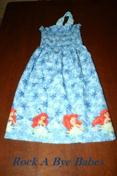Disney Princess Little Mermaid blue flower by RockaByeBabes, $25.00