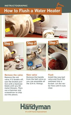 to Flush a Water Heater DIY Tutorial: How to Flush a Water Heater.DIY Tutorial: How to Flush a Water Heater. Dyi, Just In Case, Just For You, Home Fix, Diy Home Repair, Appliance Repair, Home Repairs, Do It Yourself Home, Diy Home Improvement