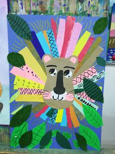 Animal Art Projects, Animal Crafts For Kids, Paper Crafts For Kids, Toddler Crafts, Art For Kids, Arts And Crafts, Kindergarten Art Projects, Creative Workshop, Art Lessons Elementary