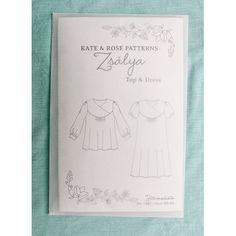 Schnittmuster: Zsalya Top & Dress - schöne Verpackung im Pergamentumschlag